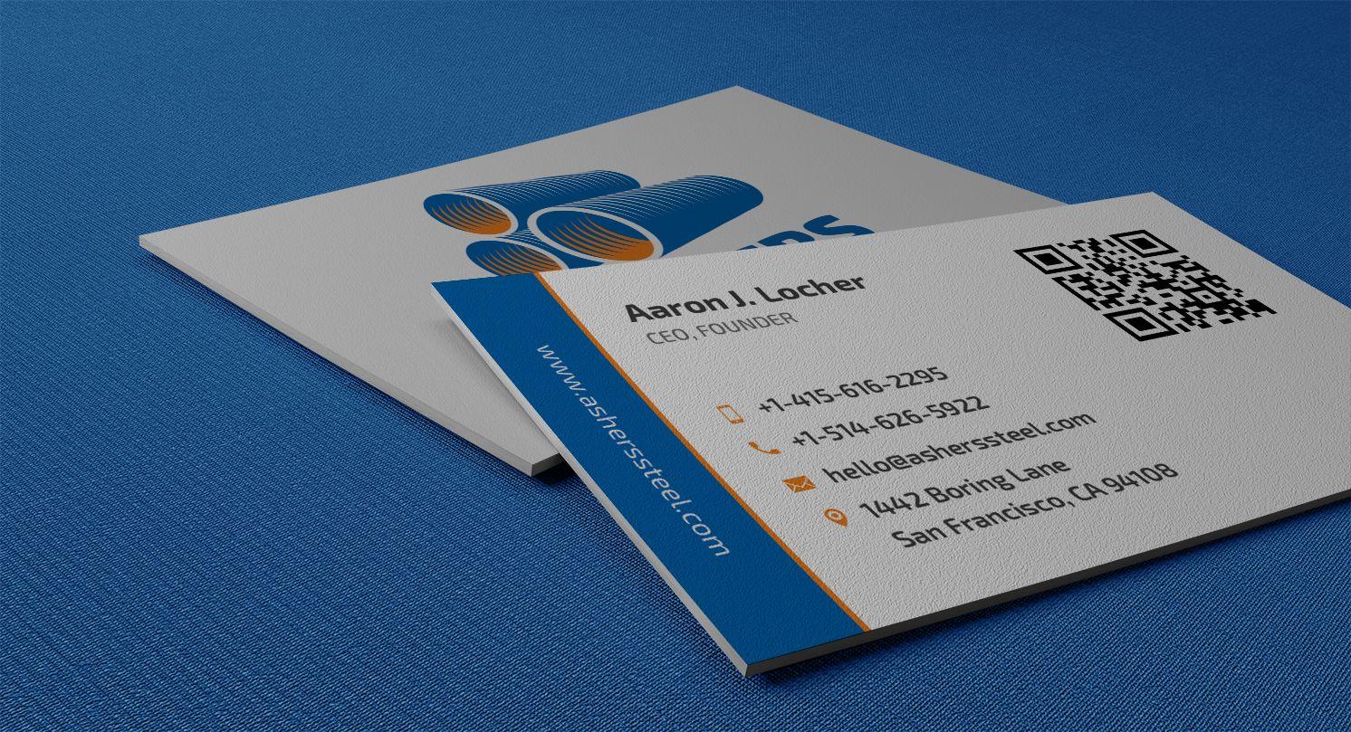 Professional QR Code Business Card - KrishaStore